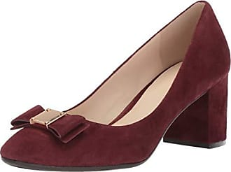 103532ff53d0 Cole Haan Womens Tali Bow Pump 65mm 9 Cordovan Suede