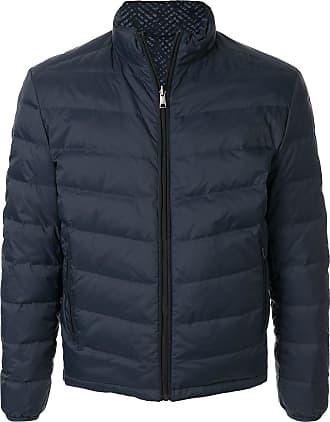 Durban padded high-neck jacket - Blue