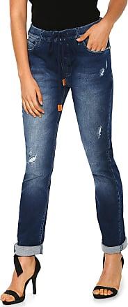 Zoomp Calça Jeans Zoomp Slim Amarração Azul