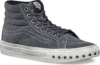 94478eb2a58a85 Vans Unisex Sk8-Hi Slim Overwashed Sneakers bluegraphite M5 W6.5