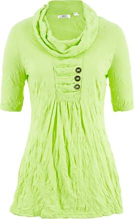 d5f926ecea859a Bonprix Crinkle-Shirt-Tunika mit halblangen Ärmeln halber Arm in grün von  bonprix