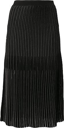 Dion Lee Godet pleated midi-skirt - Black
