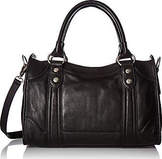 Frye Melissa Zip Satchel Leather Handbag, black