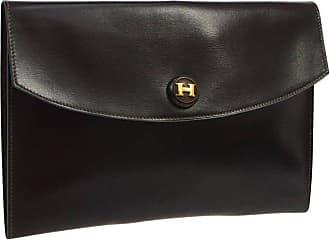 20fcd9c61965 Hermès Hermes Dark Brown Chocolate Leather Envelope Evening Clutch Flap Bag