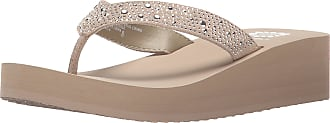 Yellow Box Womens Africa Flip Flop, Taupe, 9 M US