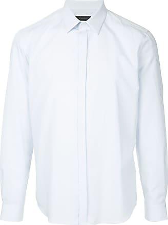 Durban Camisa lisa mangas longas - Azul