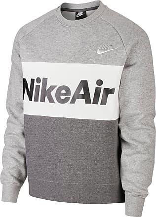 Nike NSW Air Sweatshirt Herren in dark grey heather-charcoal heather-white, Größe XXL