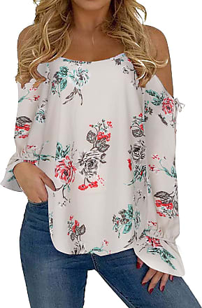 Yoins Women Cold Shoulder Tops Sleeveless Spaghetti Strap Tshirts Floral V Neck Solid Shirt Lantern Sleeves Blouse Khaki L