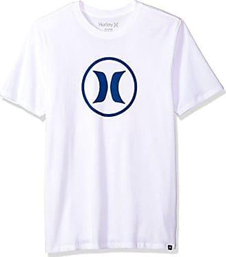 96d47b84 Hurley Mens Nike Dri-Fit Premium Short Sleeve Tshirt, White, L