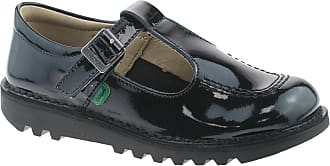 Kickers Girls Black School Shoes Size UK Infant Patent Kick T 1-12531 (10)