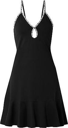 Opening Ceremony Opening Ceremony Woman Fluted Stretch-scuba Mini Dress Black Size XS