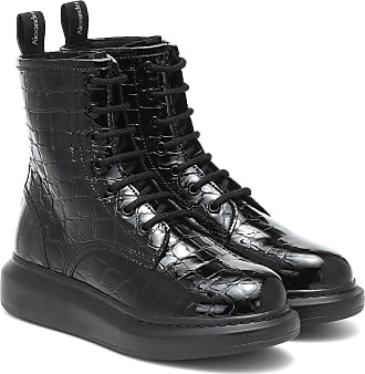 Alexander McQueen Croc-effect leather ankle boots