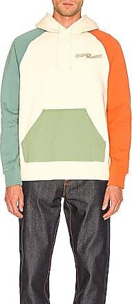 Nudie Jeans Marcus Hoodie Colors in Green,Orange,Yellow
