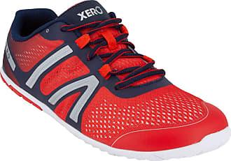 Xero Shoes HFS - Mens Lightweight Barefoot-Inspired Minimalist Road Running Fitness Shoe. Zero Drop Sneaker Red Size: 12 Wide