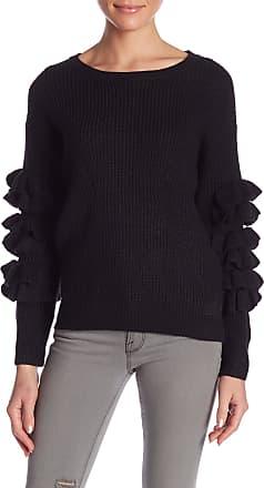 Molly Bracken Ruffle Sleeve Scoop Neck Sweater