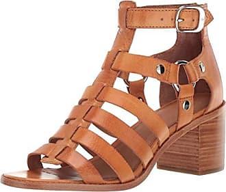 Frye Womens Bianca Gladiator Flat Sandal tan 8.5 M US