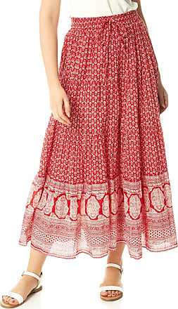 Roman Originals Women Gypsy A-Line Summer Skirt - Ladies Maxi Long Length Light Casual 100% Cotton Fabric Paisley Bohemian Print Floaty Hippie Crinkle Boho Style Tier