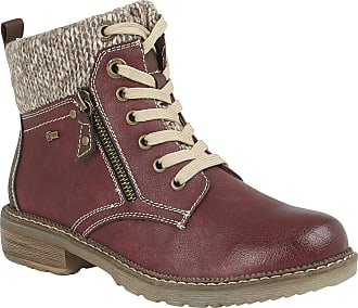 Lotus Relife Red Nancy Zip-Up Ankle Boots 37