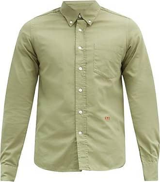 Ami Ami - Logo-embroidered Cotton Shirt - Mens - Green