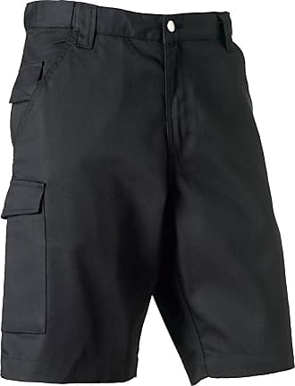 Russell Athletic Russell 002M Polycotton Twill Workwear Shorts Black 36