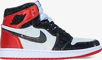 Browns Browns X The Dan Life Mens White Multicolour Nike Air Jordan Crystal Embellished Sneakers