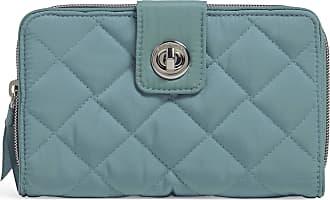 Vera Bradley Womens Performance Twill RFID Turnlock Wallet, Blue Oar, One size