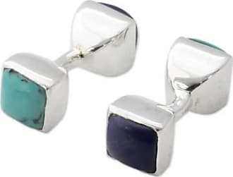 Novica Turquoise and lapis lazuli cufflinks, Dreamer