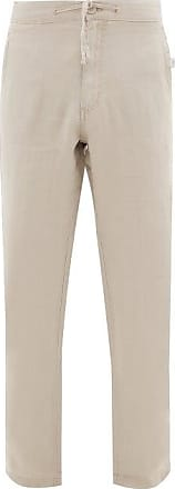 Onia Collin Linen Trousers - Mens - Beige