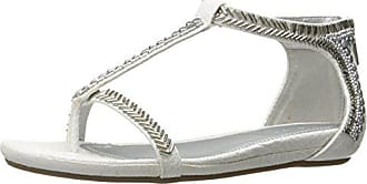 Kenneth Cole Reaction Womens Lost You Gladiator Sandal, White, 8.5 M US