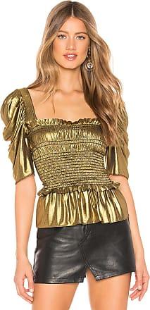 7e7d987f98fa4 Amanda Uprichard x REVOLVE Marisol Top in Metallic Gold