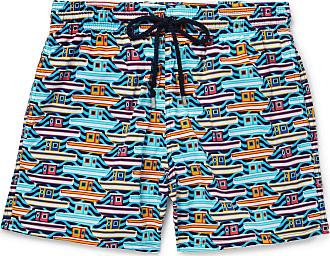 3beb4428a191c Vilebrequin Moonrise Mid-length Printed Swim Shorts - Blue