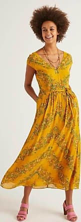 Boden Fiona Midikleid Yellow Damen Boden