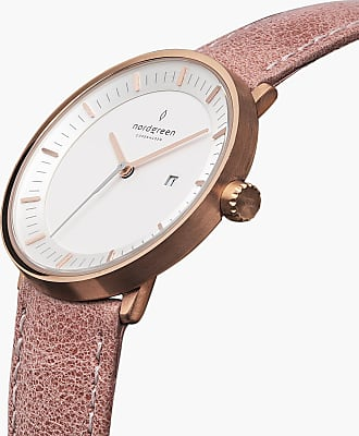 Nordgreen Philosopher - Rose Gold | Pink Leather - 36mm / Rose Gold