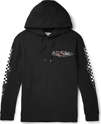 McQ by Alexander McQueen Printed Flocked Loopback Cotton-jersey Hoodie - Black