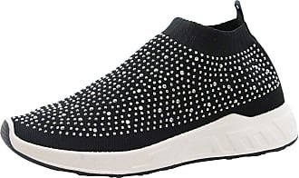 Saute Styles Ladies Women Running Fitness Diamante Gym Knitted Sock Sports Trainers Shoes Size 6