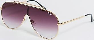Quay Quay Purple/Gold Shield Sunglasses
