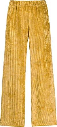 PESERICO Calça plissada - Amarelo