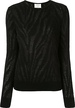 Onefifteen burnout zebra pattern jumper - Black