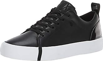 A|X Armani Exchange Womens Eco Leather Low Top Sneaker Black, 40M Medium EU (10 US)