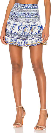 Camilla Short Shirred Skirt in Blue