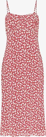 Reformation Womens Arie Gathered Bust Printed Midi Dress