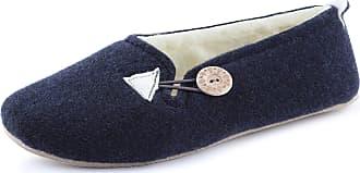 Ladeheid Women´s Felt Slippers Shoes Flipflops PFF83 (Navy, 41 EU = 7.5 UK)