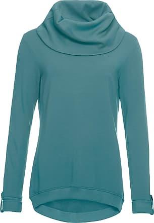 10a1ababf2cb9 John Baner Jeanswear Bonprix - Sweat-shirt long à col châle pétrole manches  longues pour