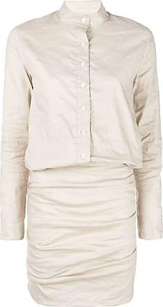 Nicole Miller draped shirt dress - White
