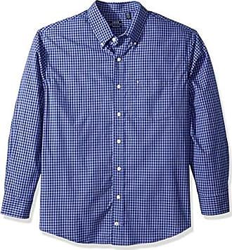 Izod Mens Slim Fit Button Down Long Sleeve Stretch Performance Gingham Shirt