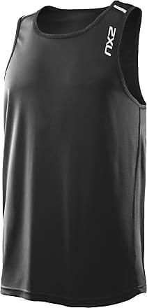 2XU Mens X Tech Singlet, Large, Black/Black