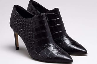 Capodarte Ankle Boot Couro Croco Preta 36