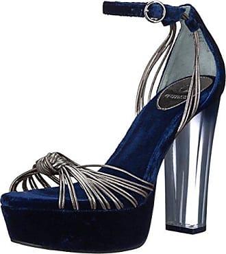 Guess Womens Peakabo Heeled Sandal, Pewter, 8 Medium US