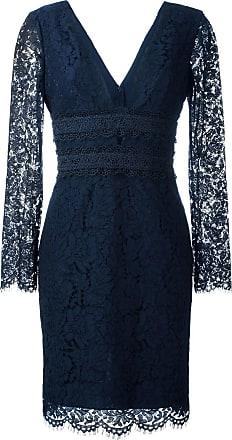 Diane Von Fürstenberg Vestido com renda - Azul
