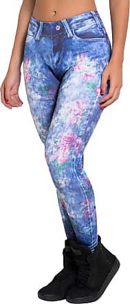 Kaisan Calça Kaisan Sublimada Rosas Jeans